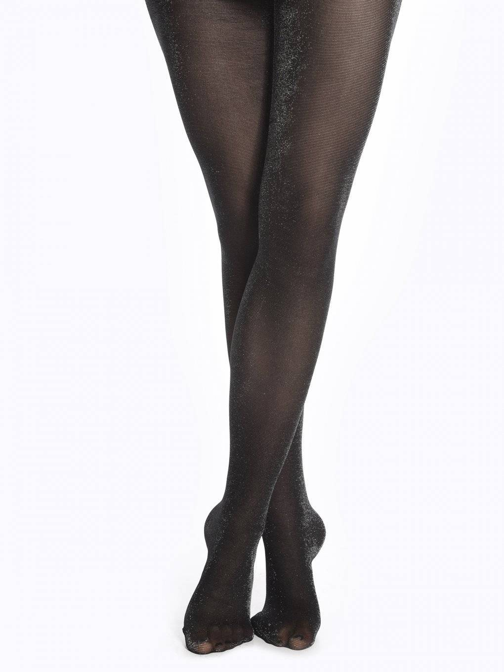 Tights with metallic fibre