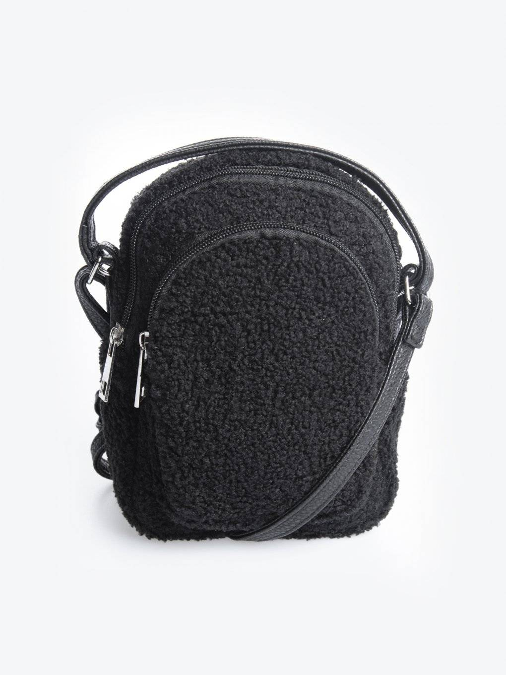 Teddy faux fur mini crossbody bag