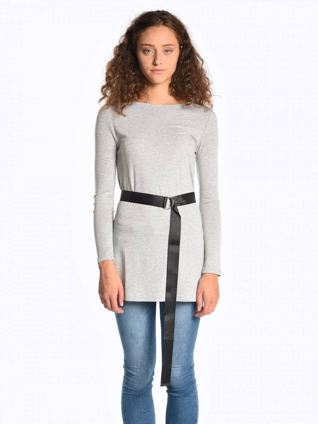 Longline top with belt