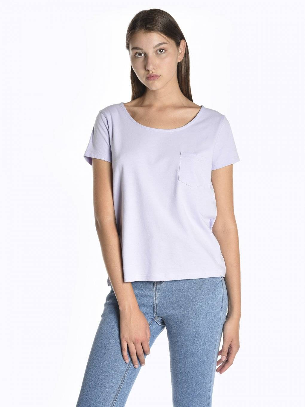 T-shirt with front pocket
