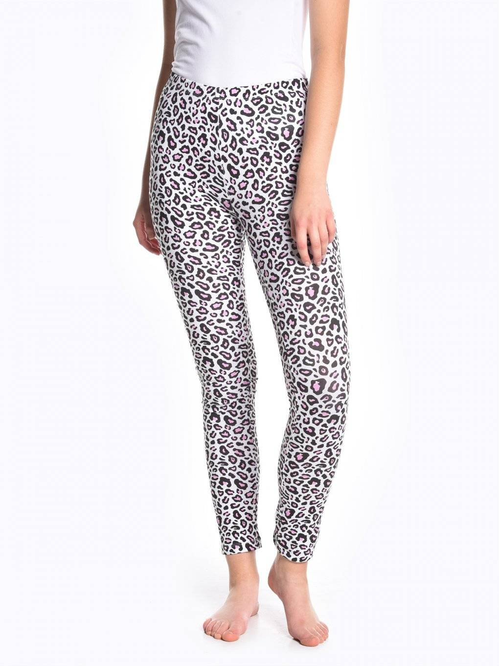 Animal print cotton leggings