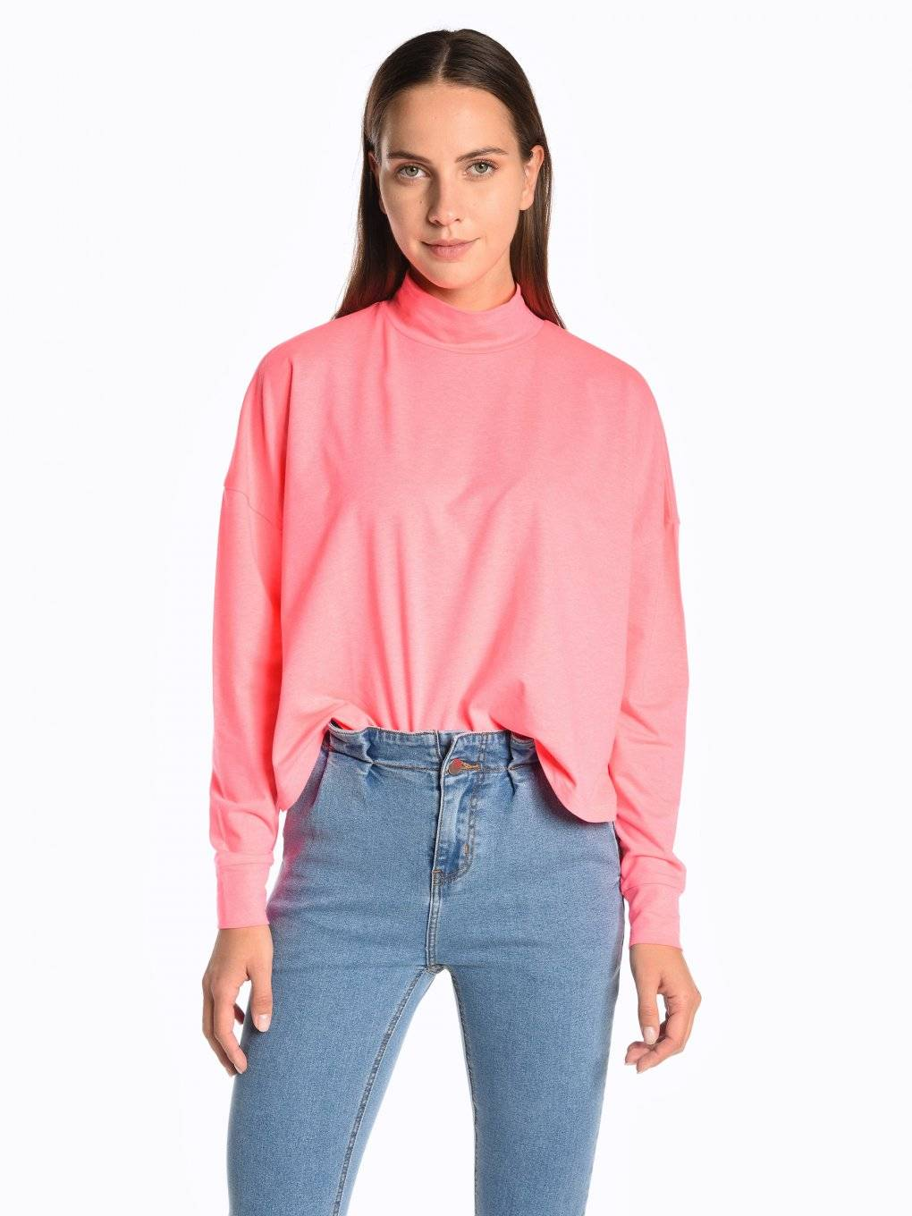 High neck neon top