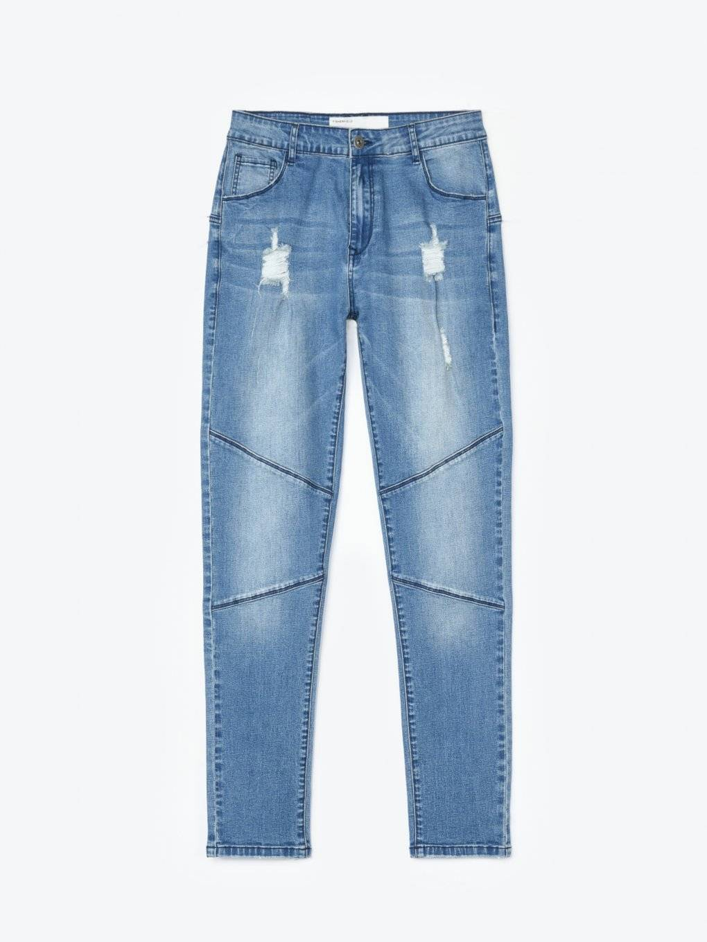 Damaged carrot fit jeans
