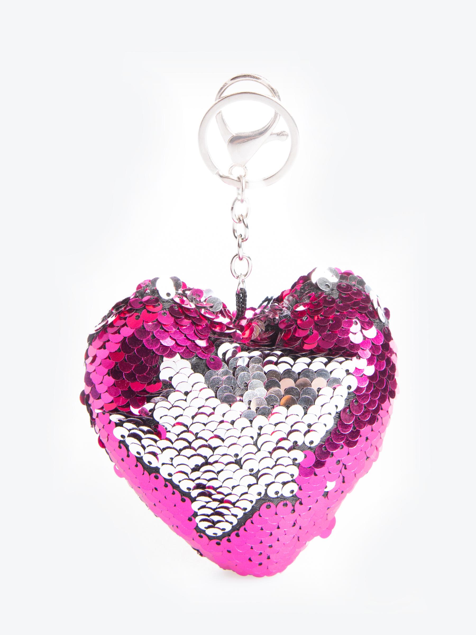 GATE Flitrovaný prívesok na kľúče v tvare srdca