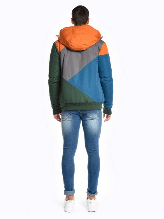 Color block padded jacket