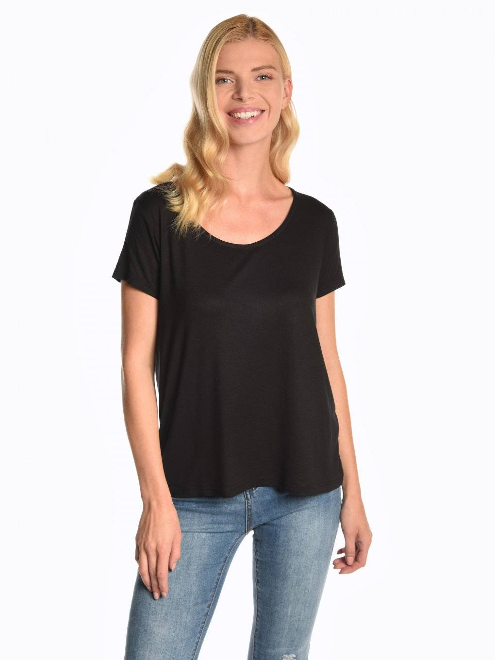 Plain viscose top
