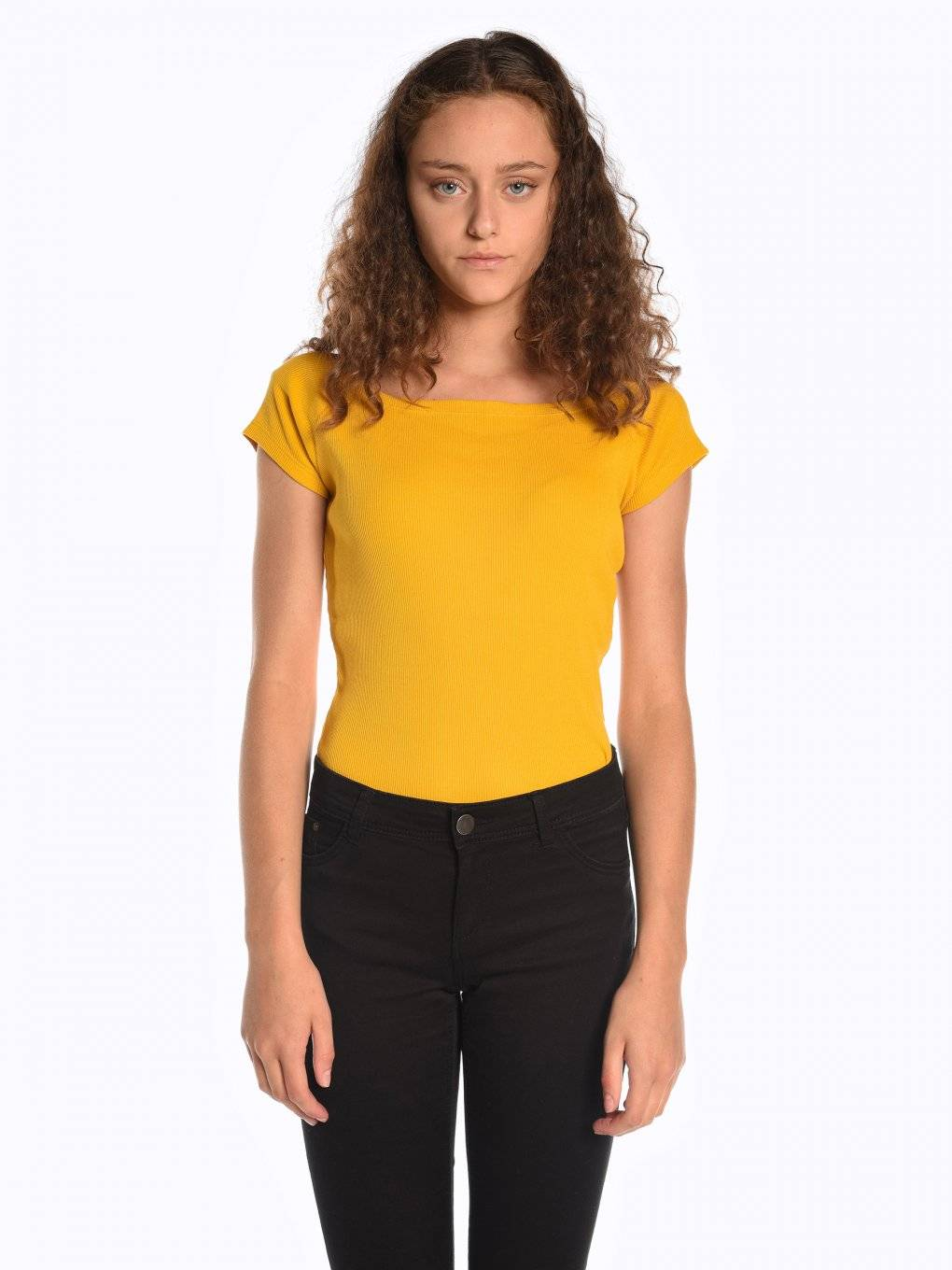 Ribbed short sleeve t-shirt