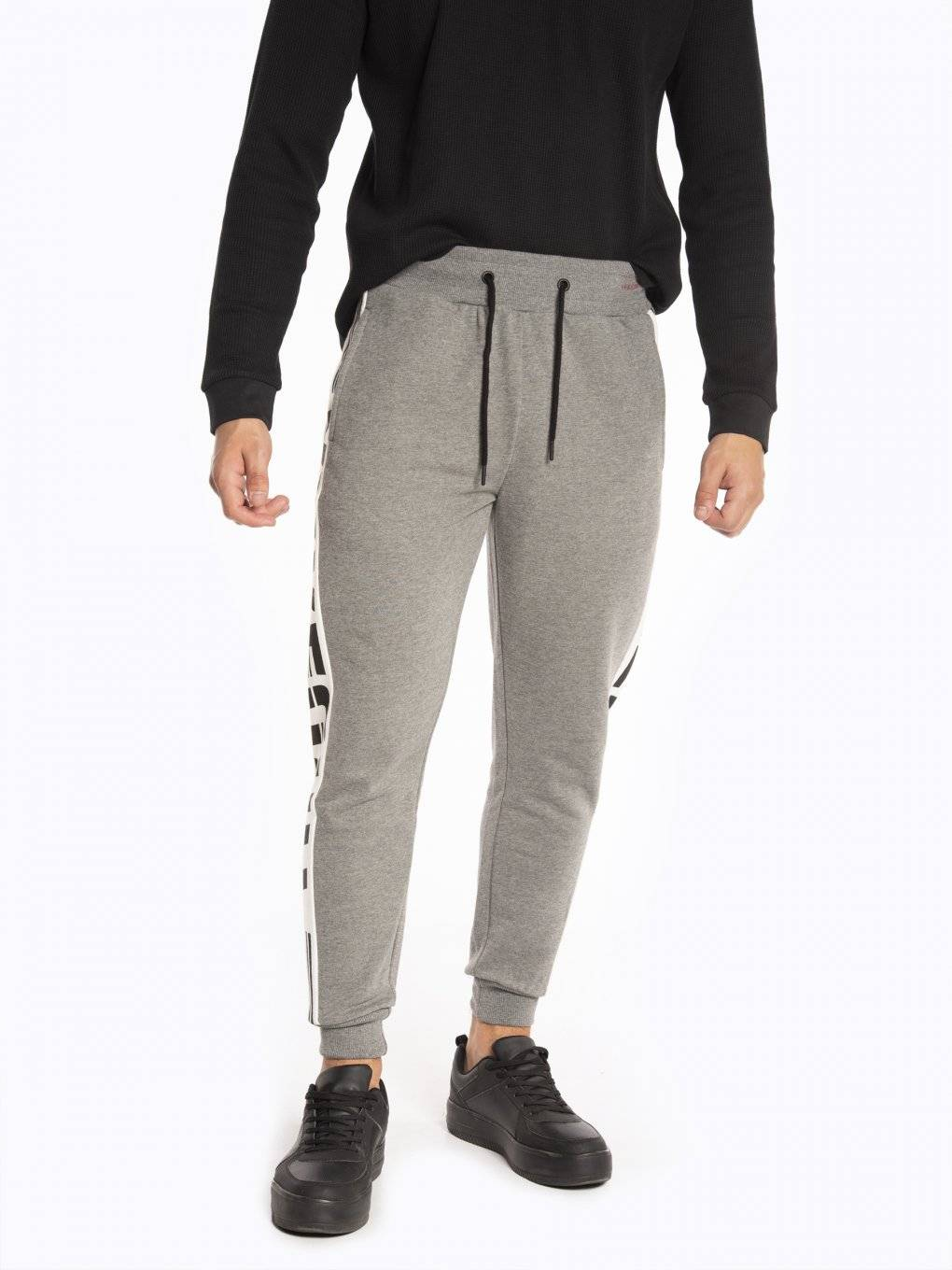 Sweatpants with side panel