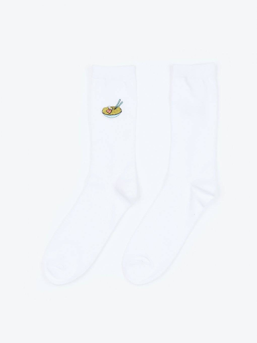 2-pack crew sock with embroidery
