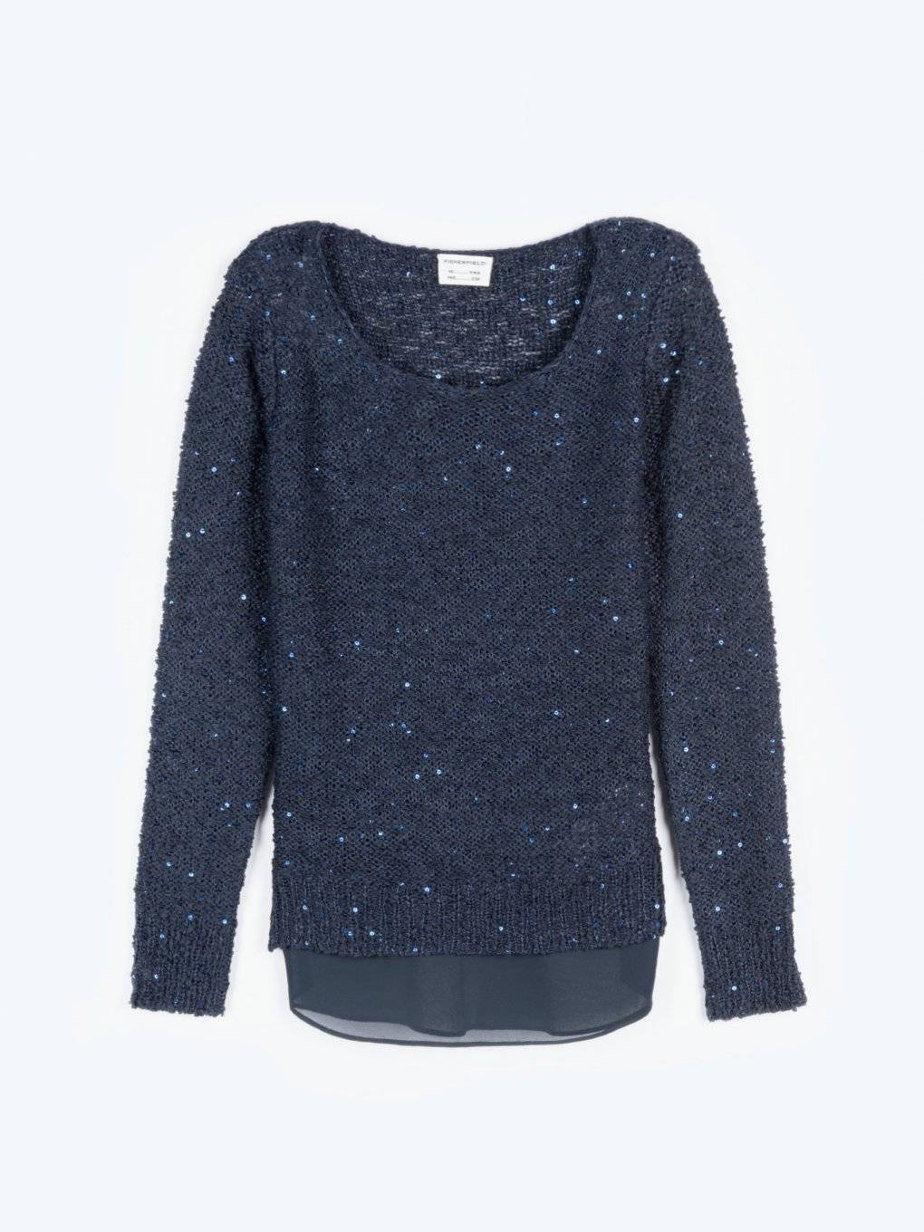 Combined sequin jumper