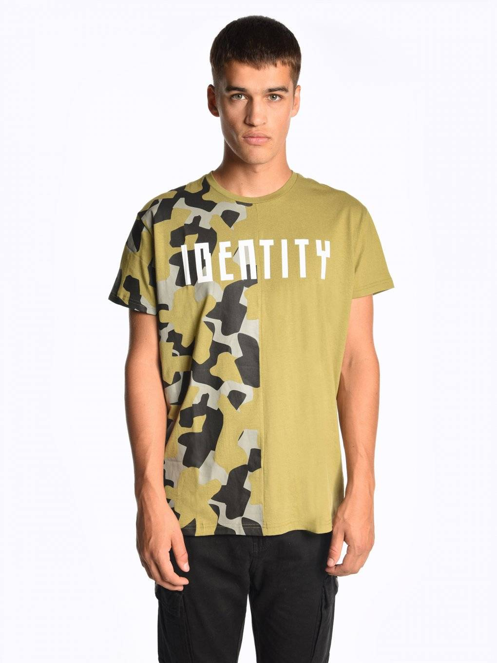 Cut&sew t-shirt with print