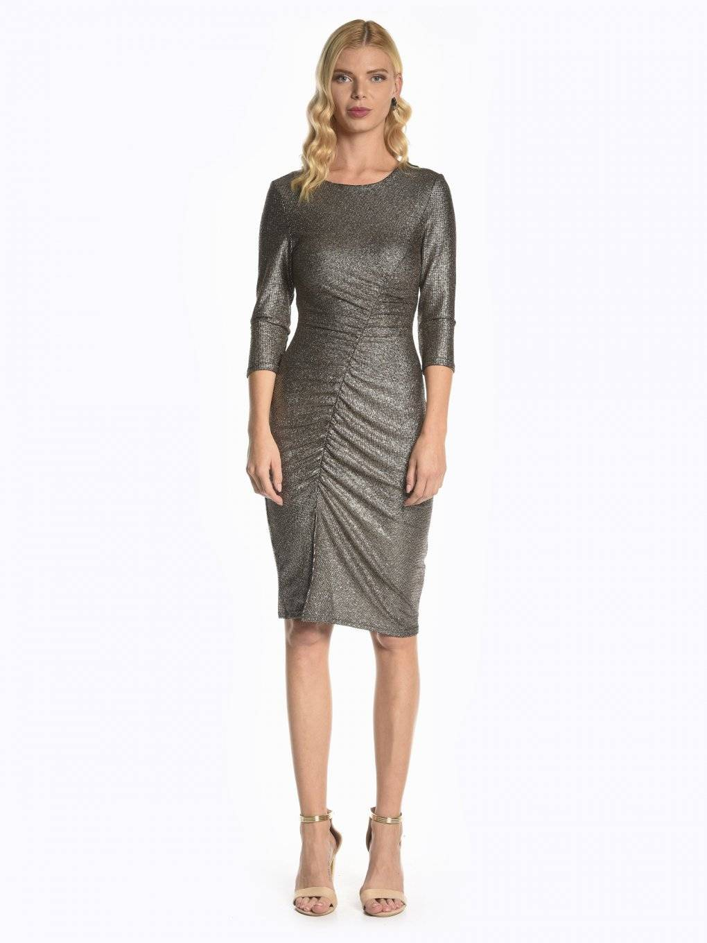 Bodycon metallic dress