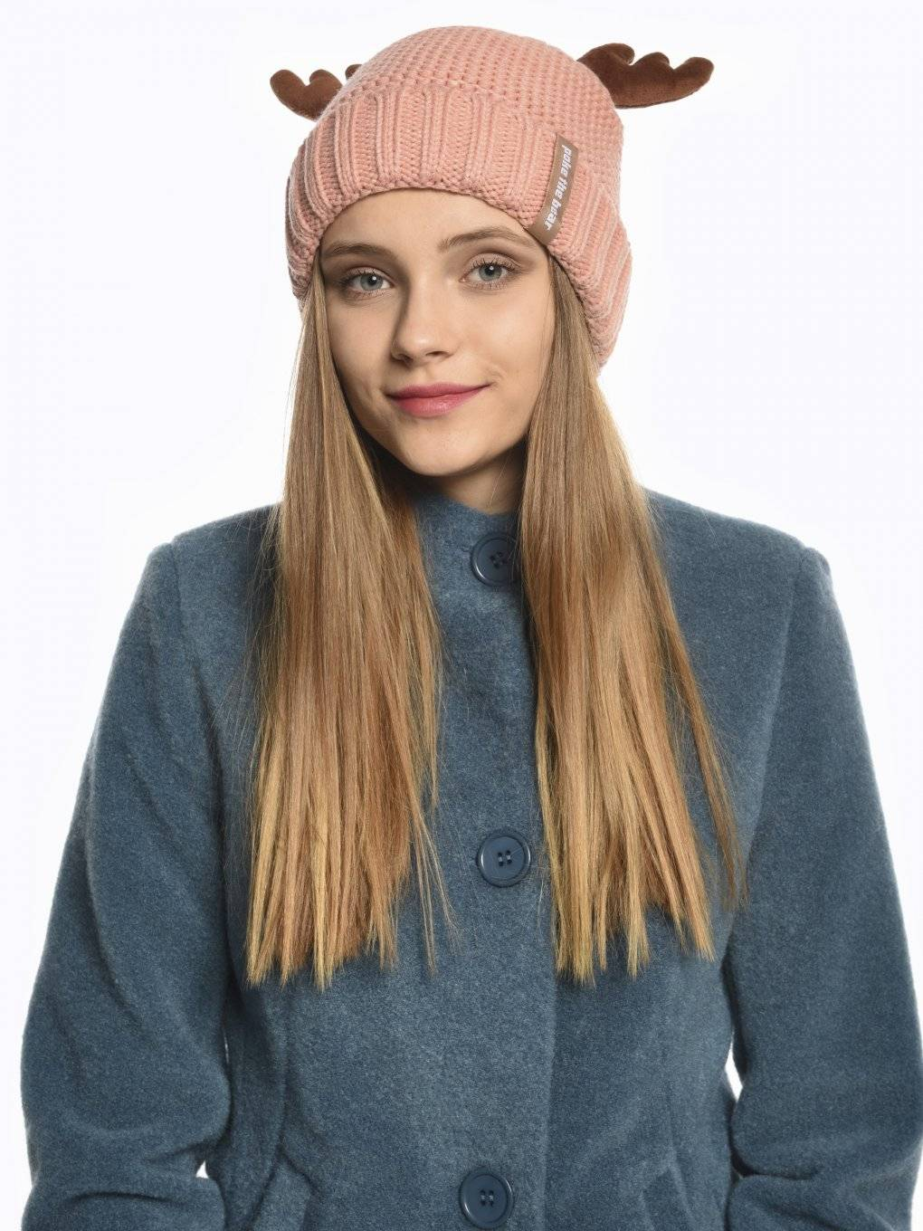 Pile lined knitted hat