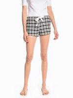 Plaid pyjama shorts
