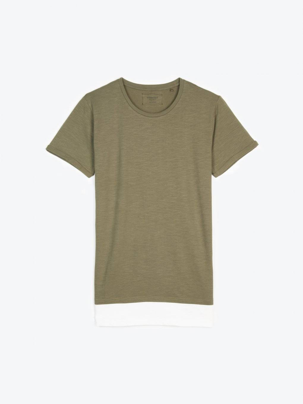 T-shirt with contrast hem