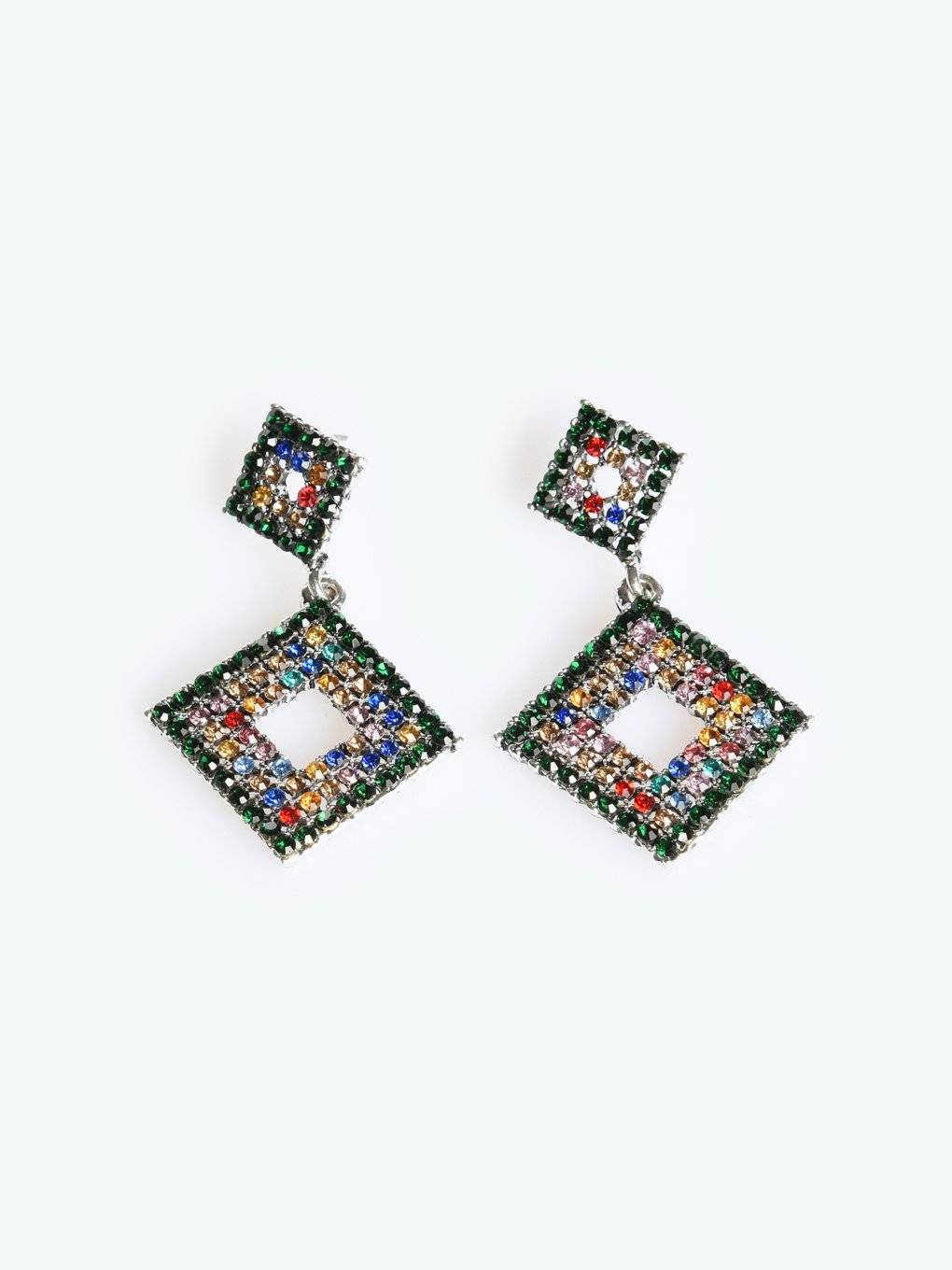 Colourful strass earrings