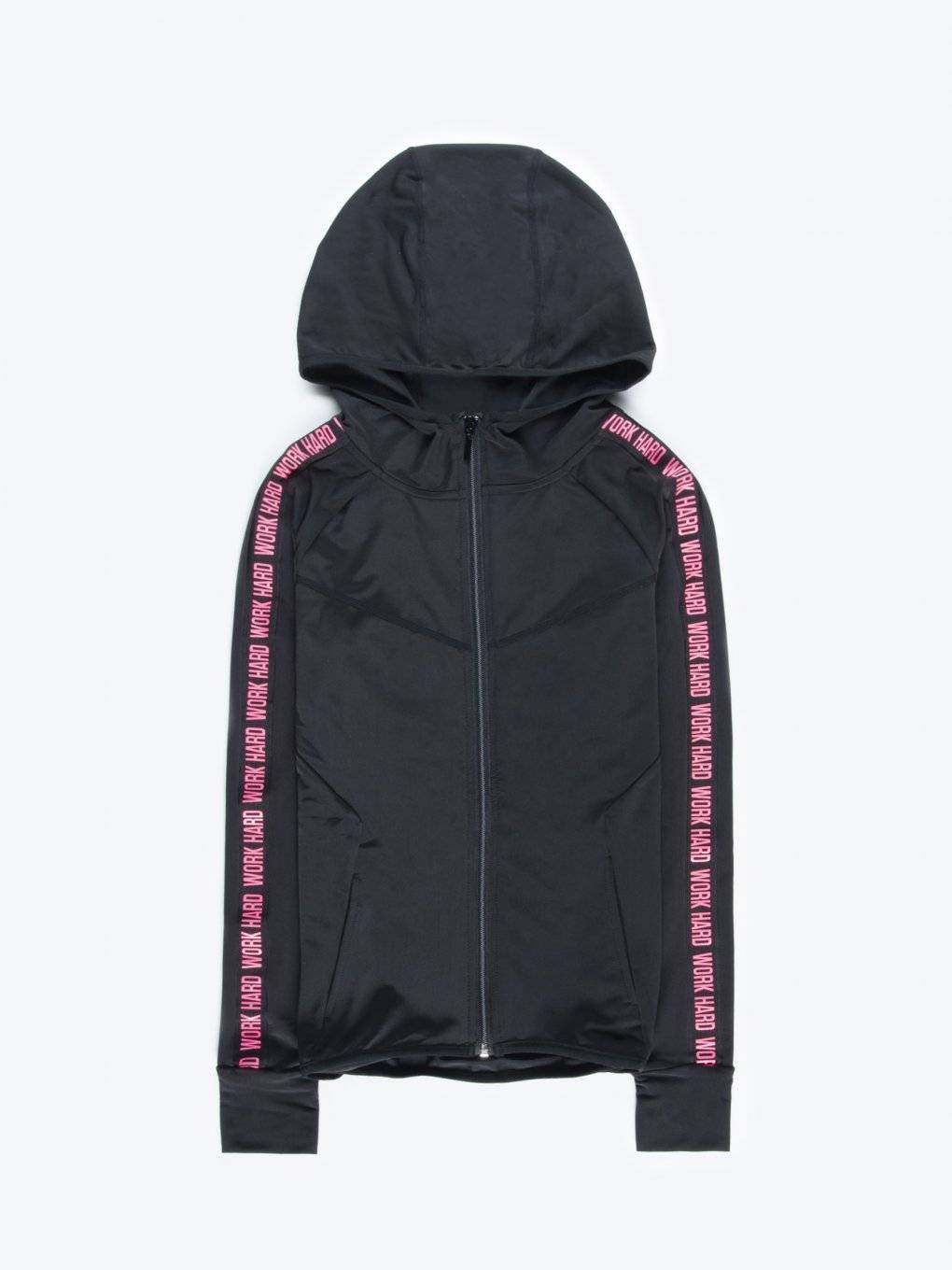 Zip-up sports hoodie