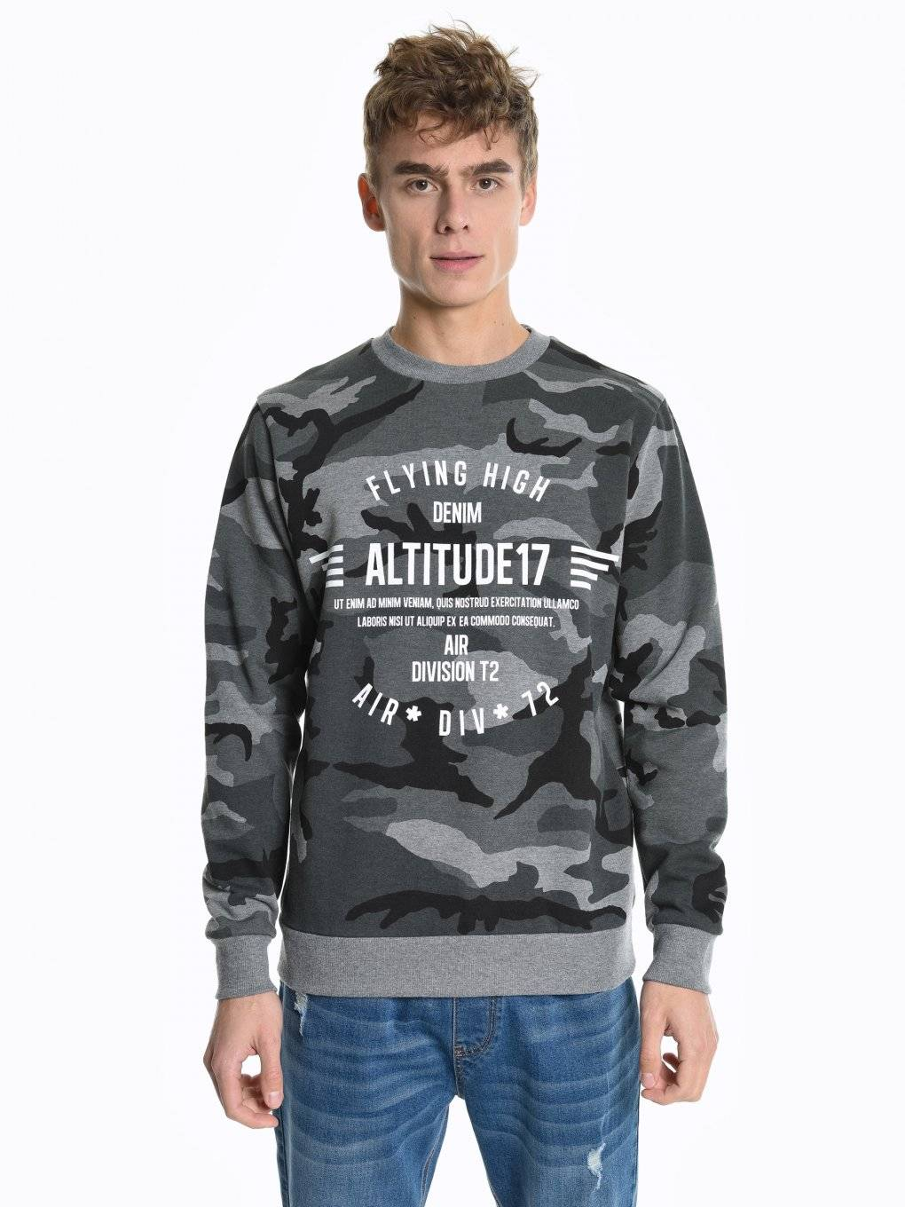 Prolonged sweatshirt with print
