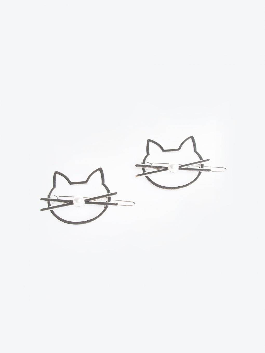 2-pack of kitty hairgrips