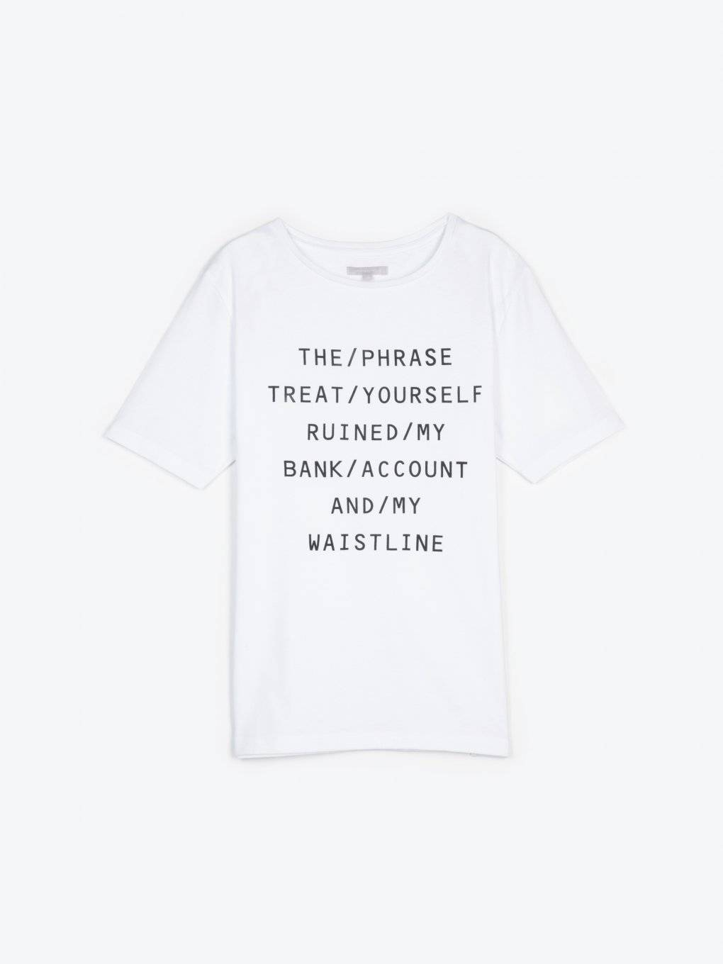 Message print t-shirt