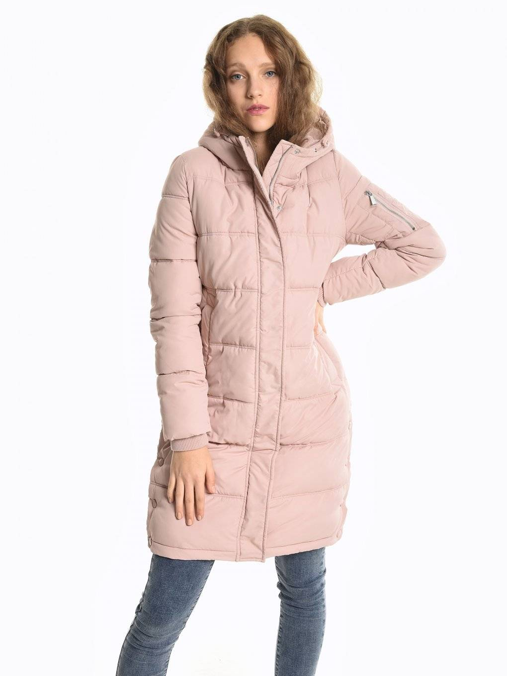 Quilted padded jacket with hood