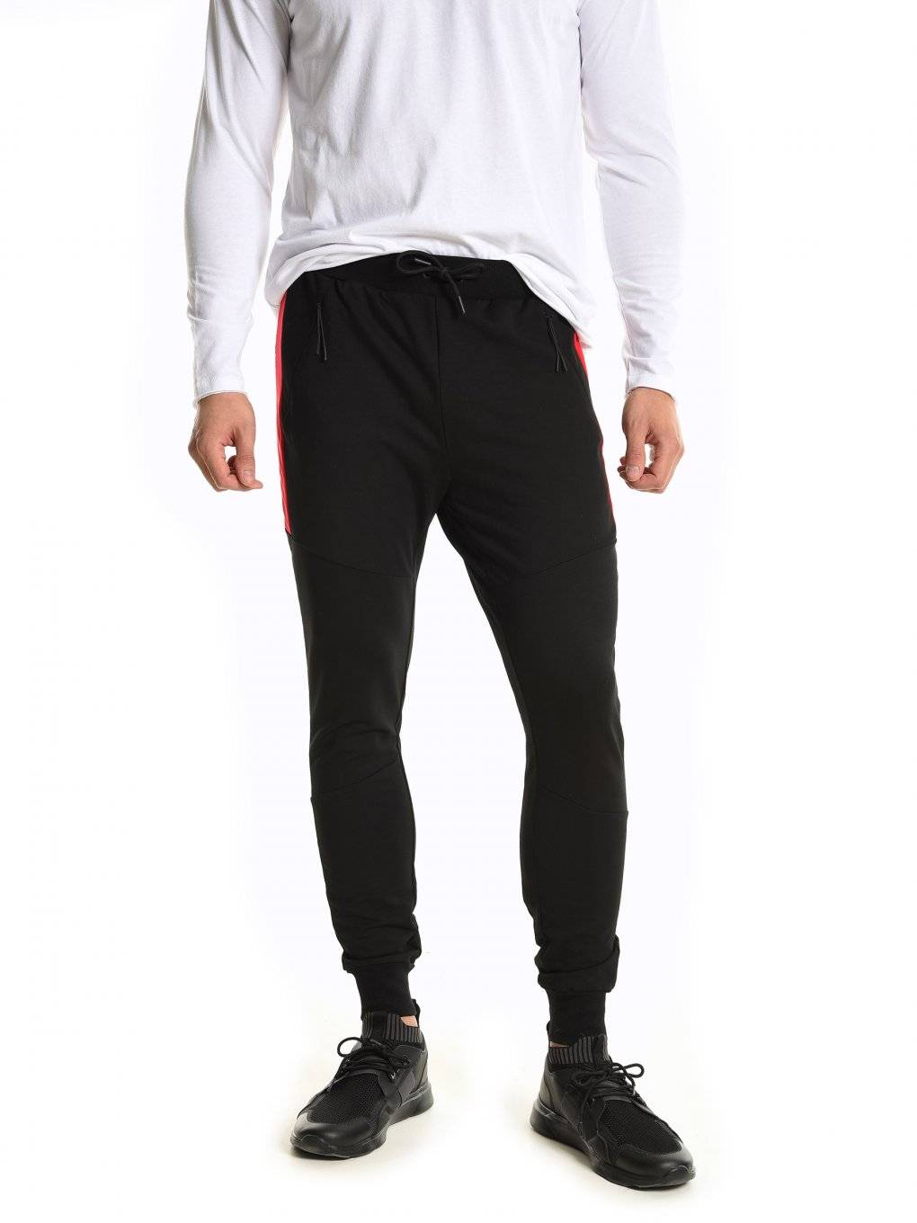 Sweatpants with contrast panels