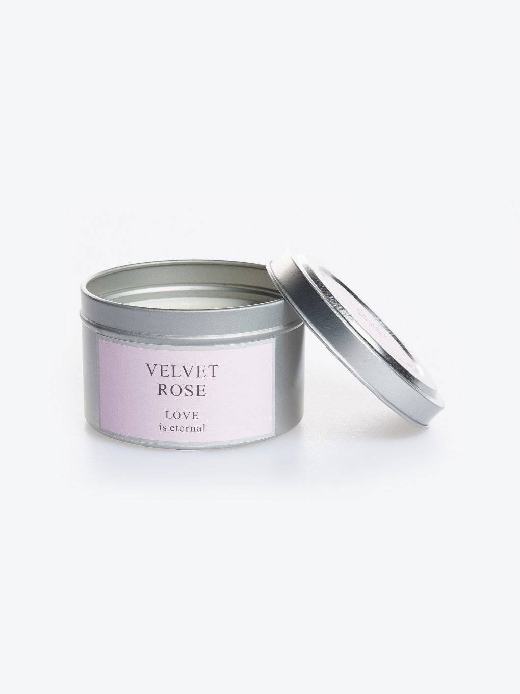 Velvet rose scented tin candle