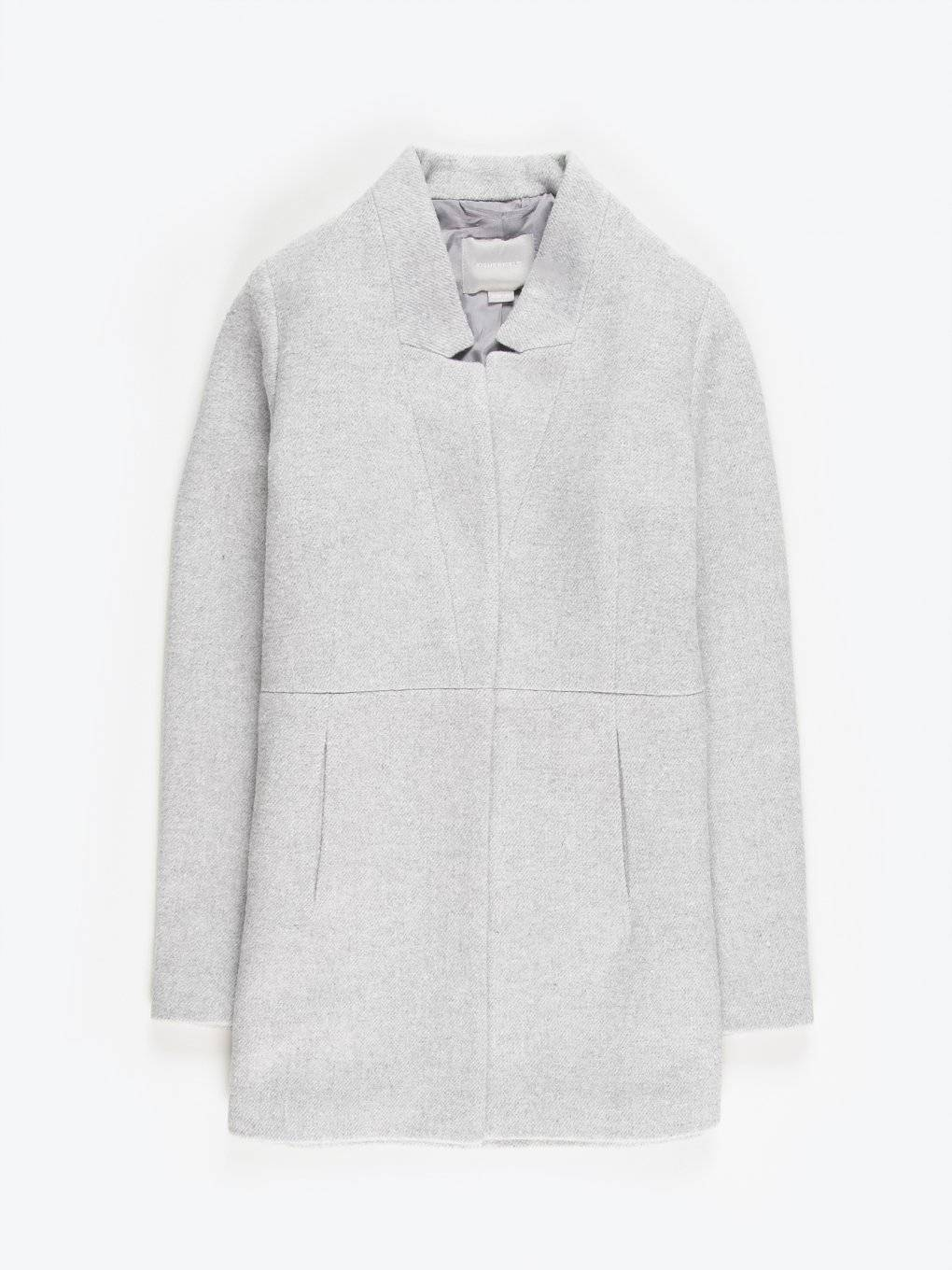 Marled plain coat