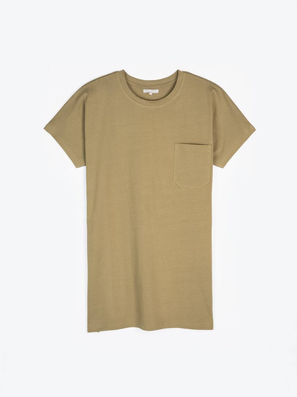 Long basic t-shirt with pocket