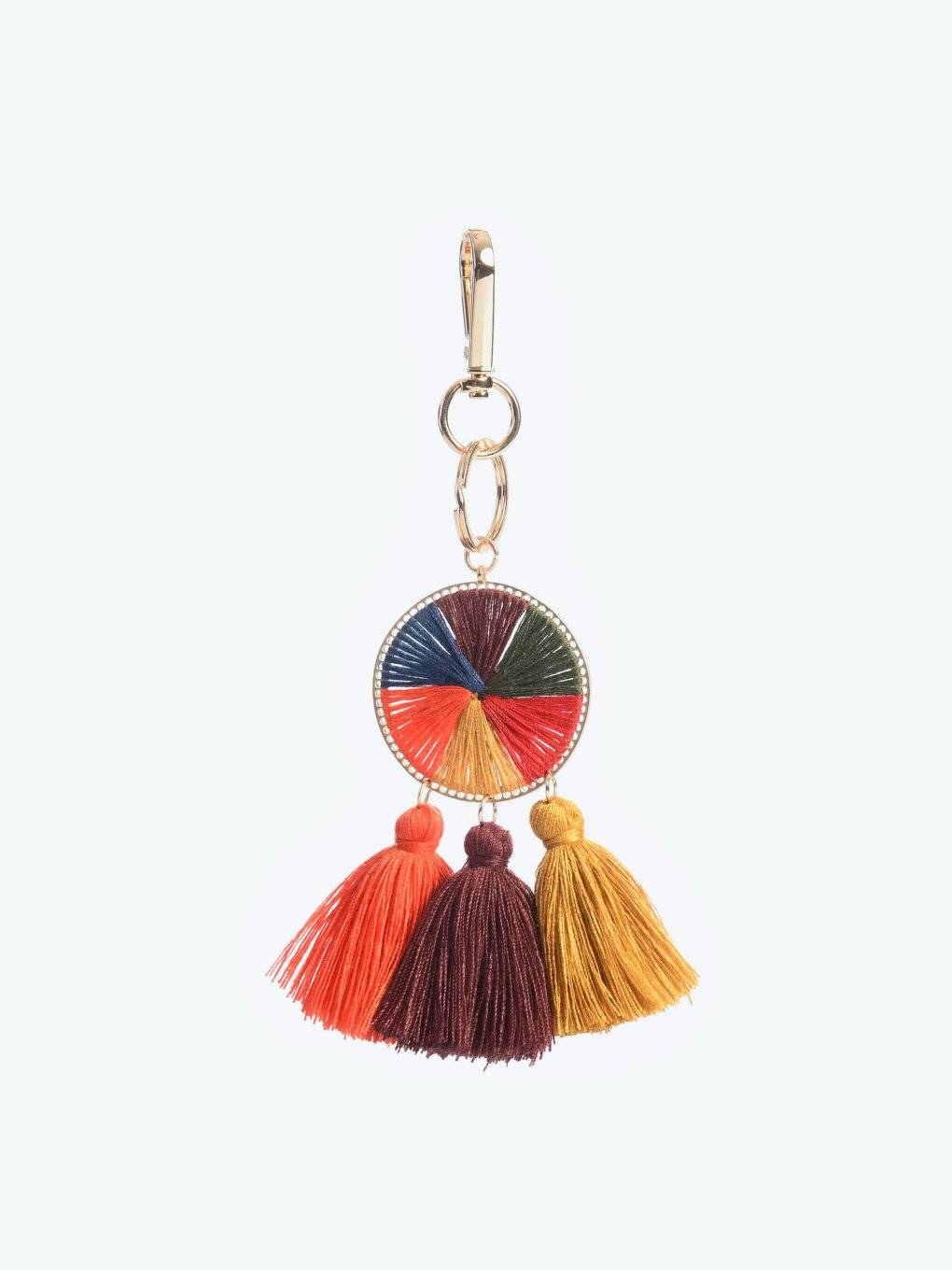 Key ring with tassels