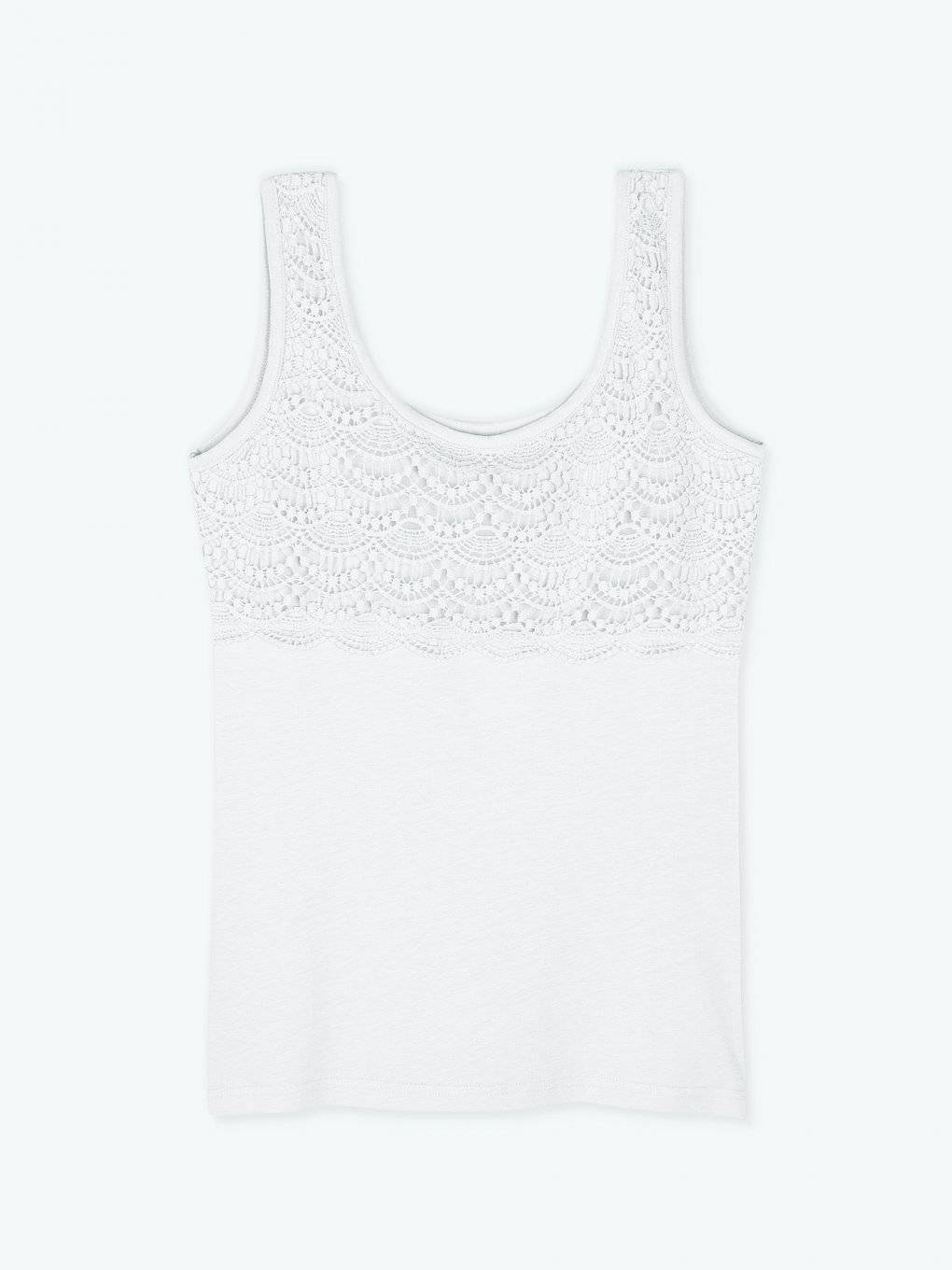 Tank top with crochet detail