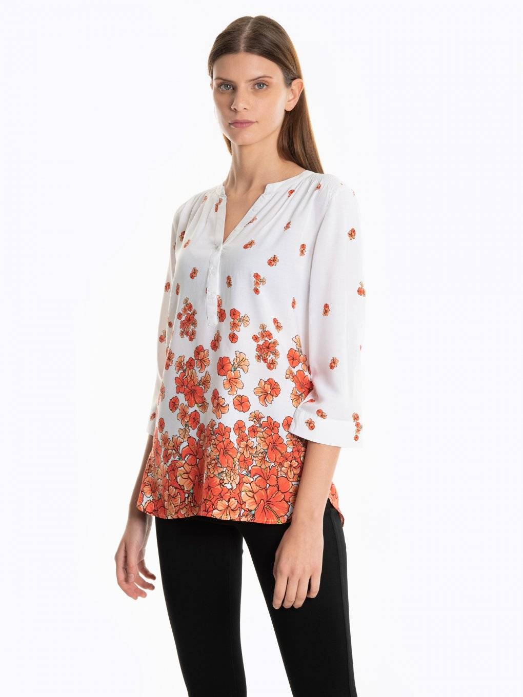 Viscose blouse in floral print