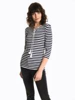 Striped t-shirt with front lacing