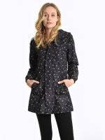 Waterproof flower print parka