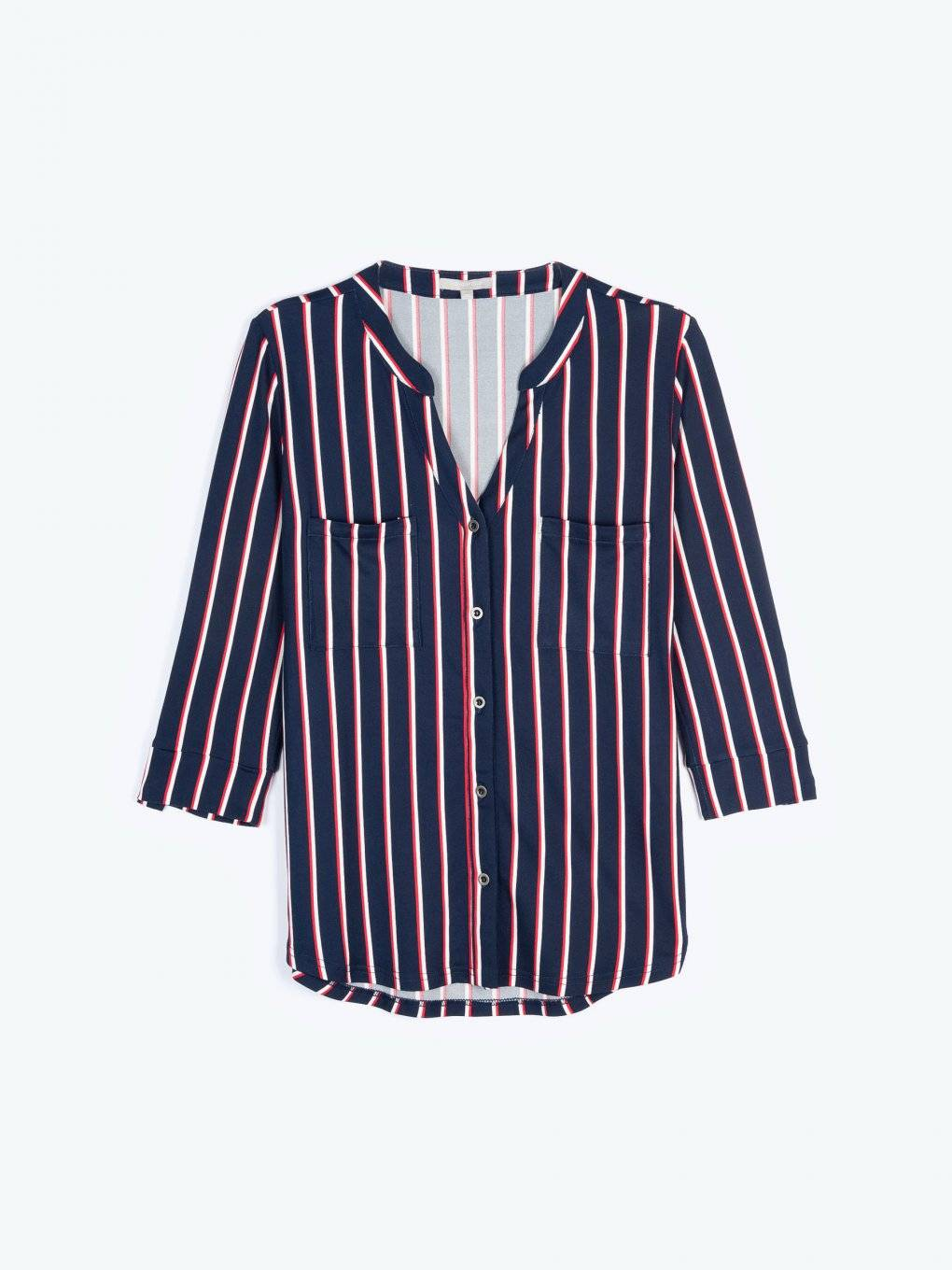Knit striped blouse