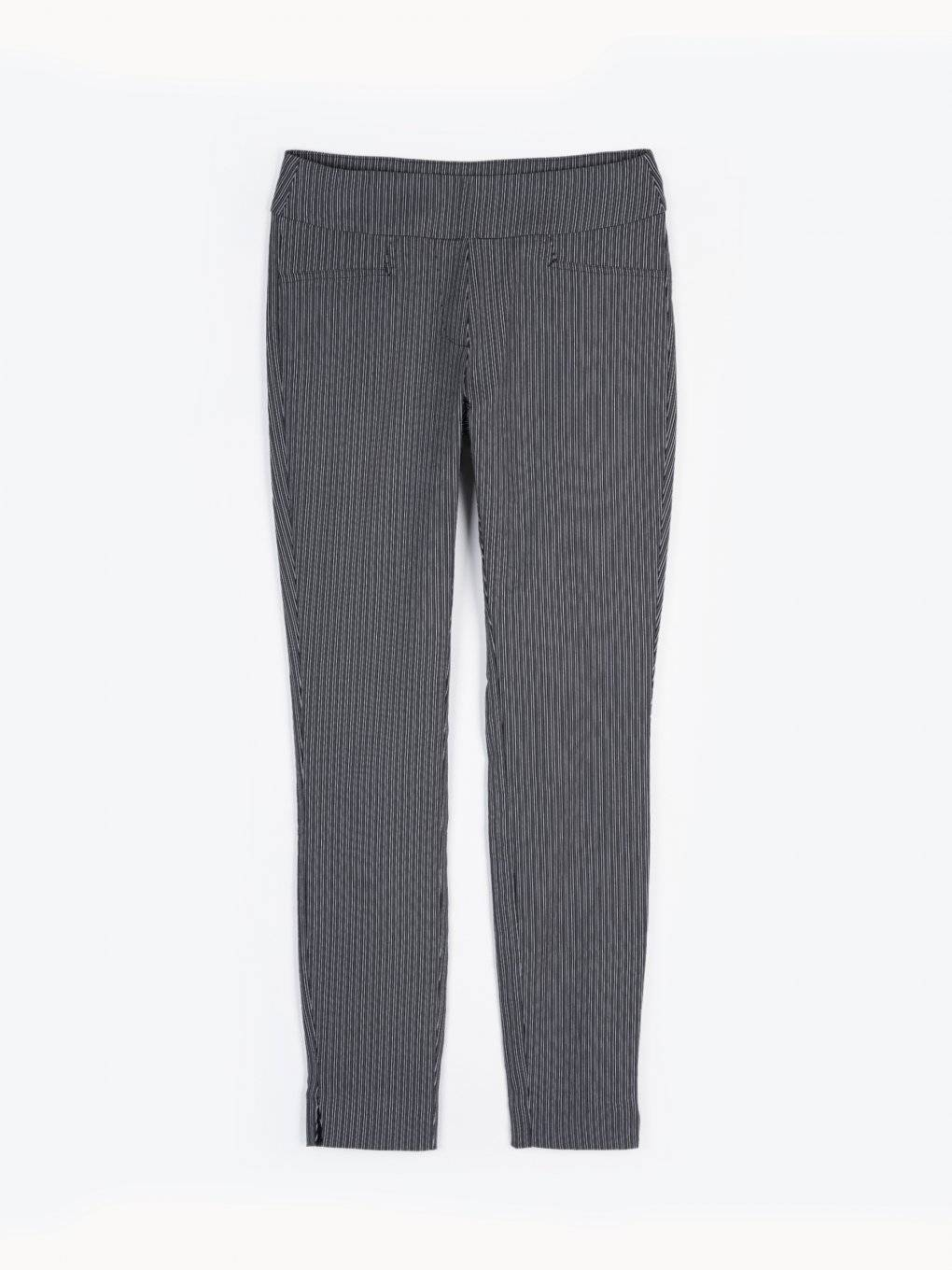 Striped slim fit trousers