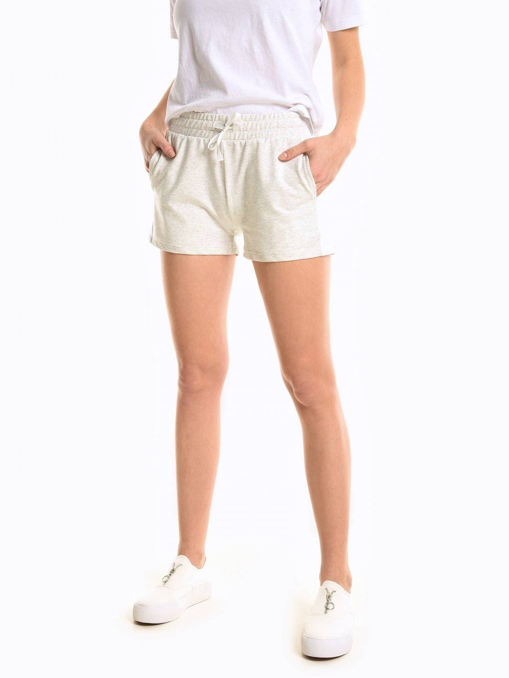Sweatshorts with side panel