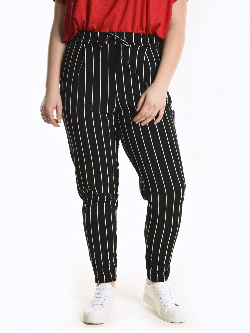 Striped jogger fit trousers