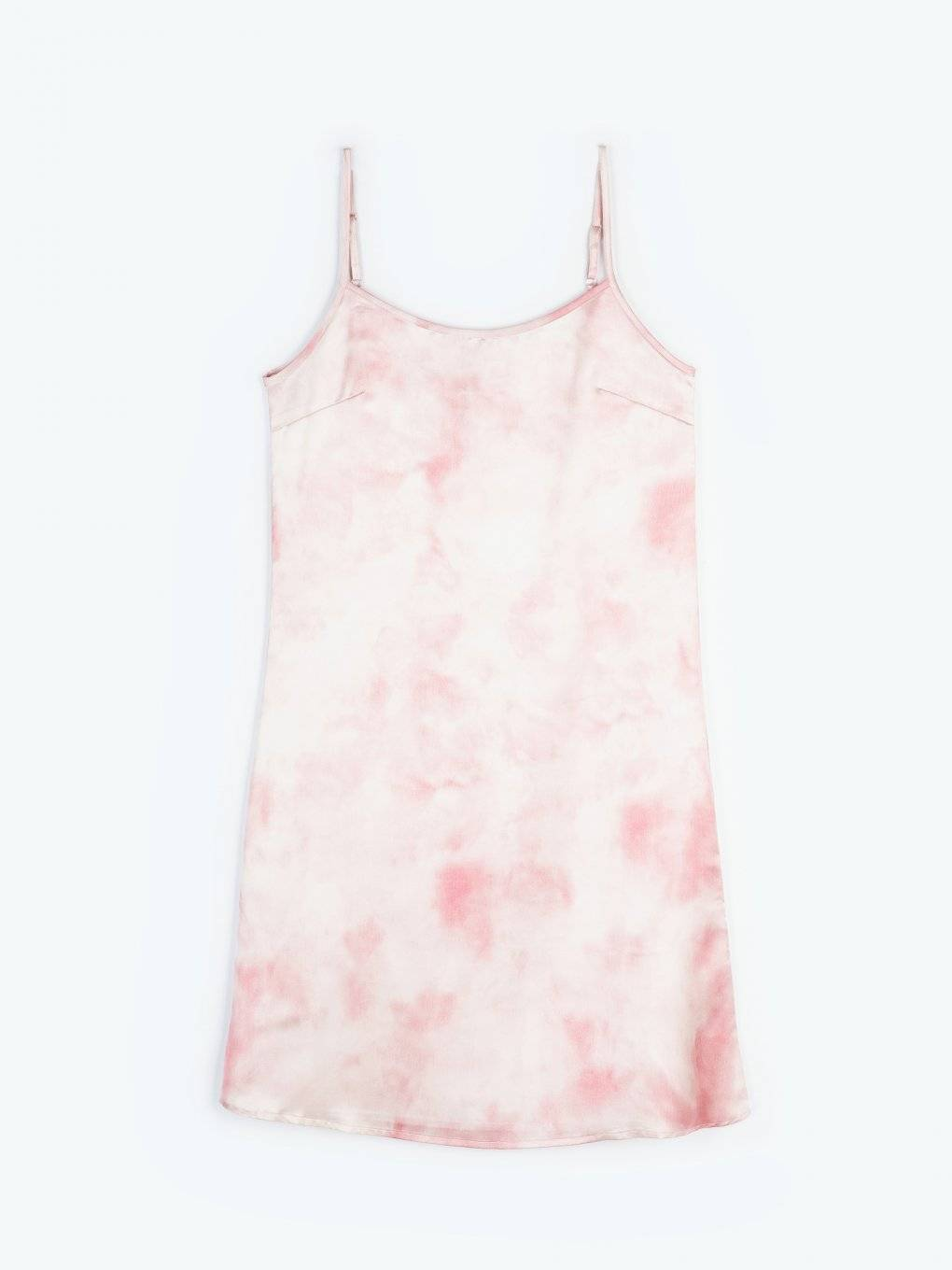 Tie dye cami satin dress