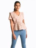 Madeira embroidery top blouse