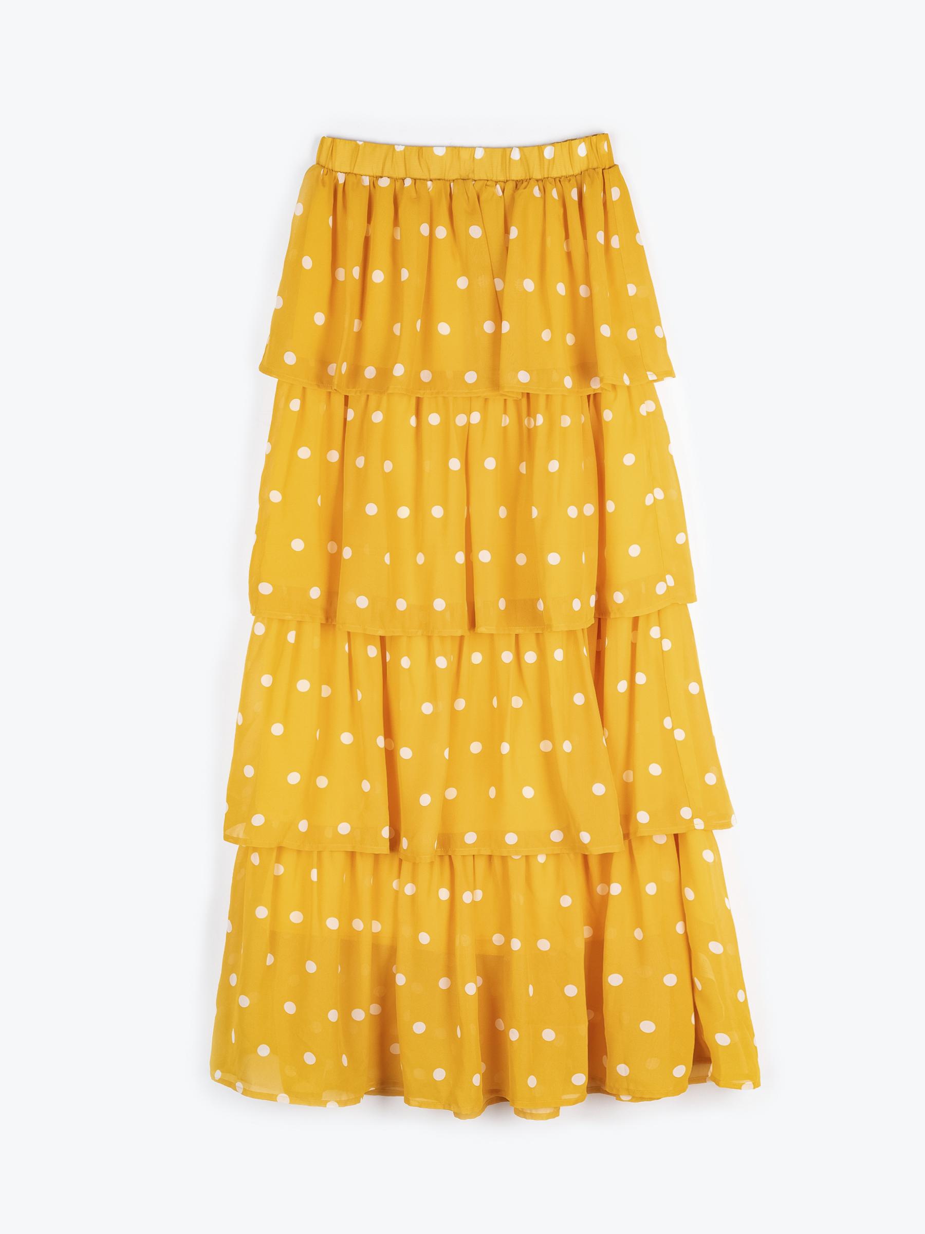 GATE Puntíkovaná dlouhá sukně