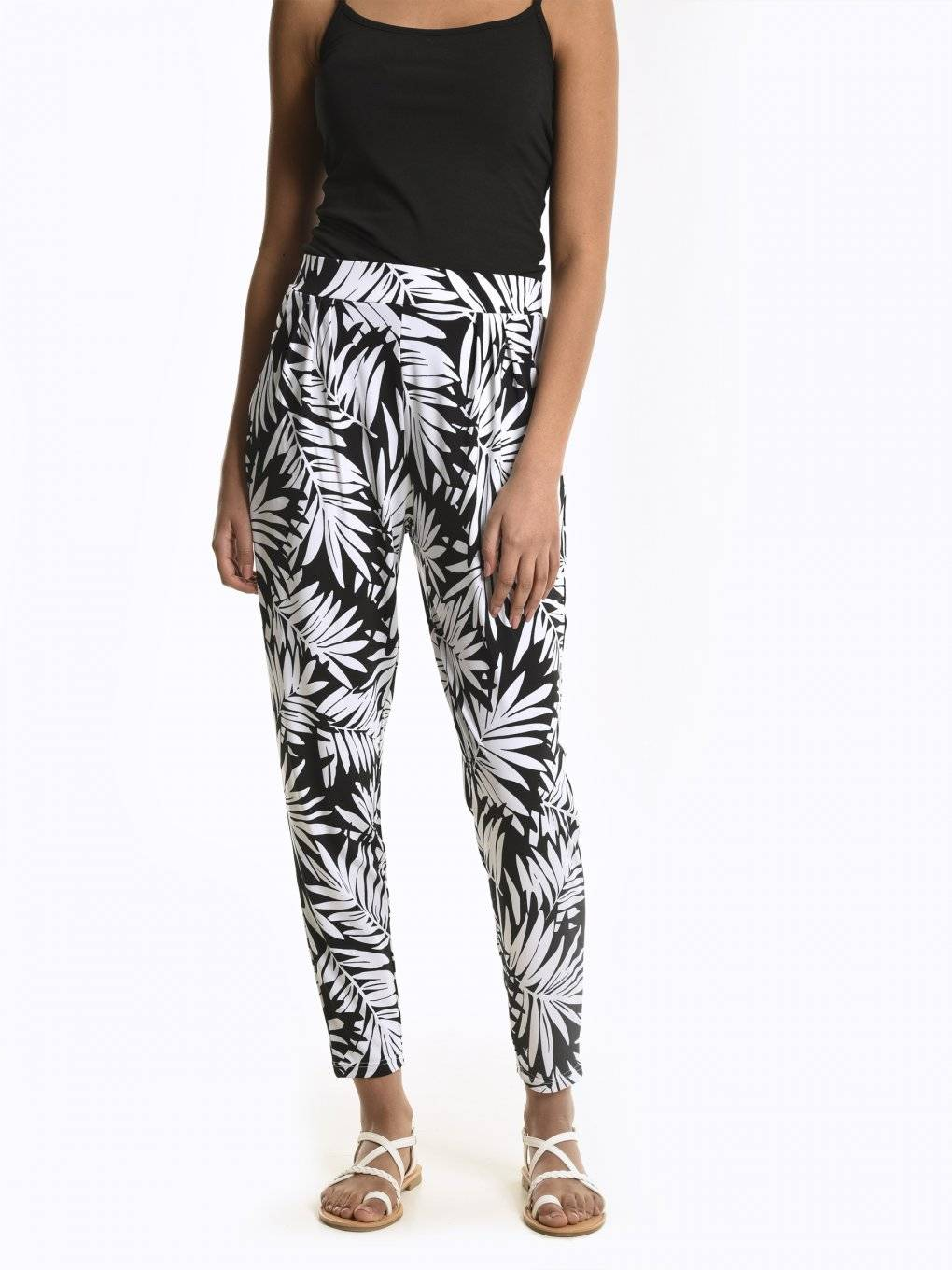 Flower print palazzo trousers