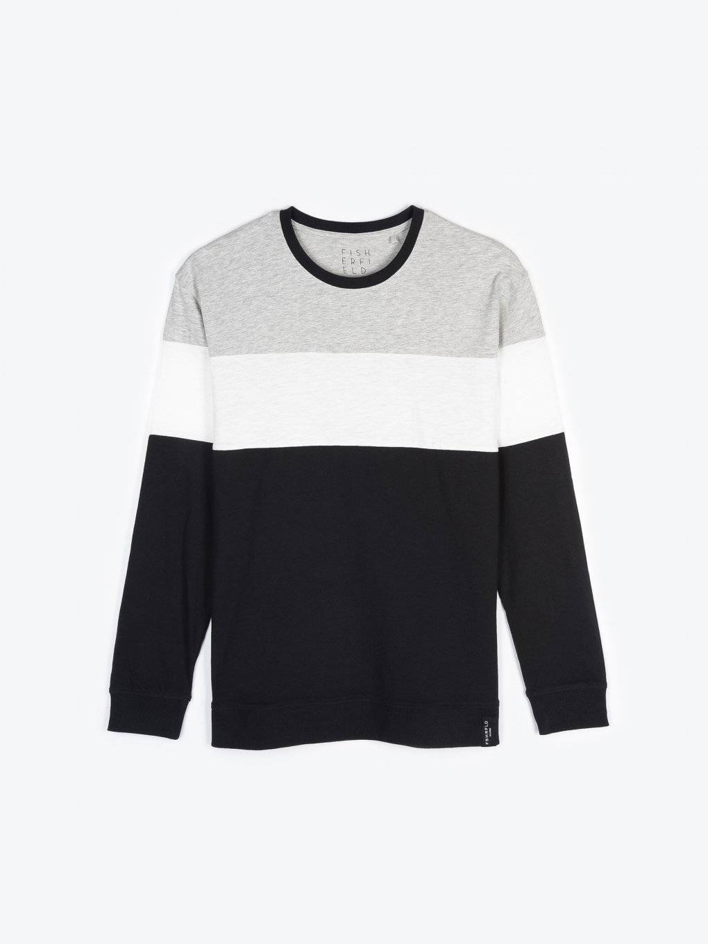 Colour block long sleeve t-shirt