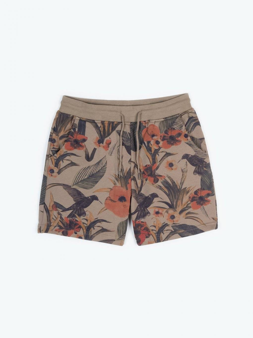 Sweat shorts with floral print