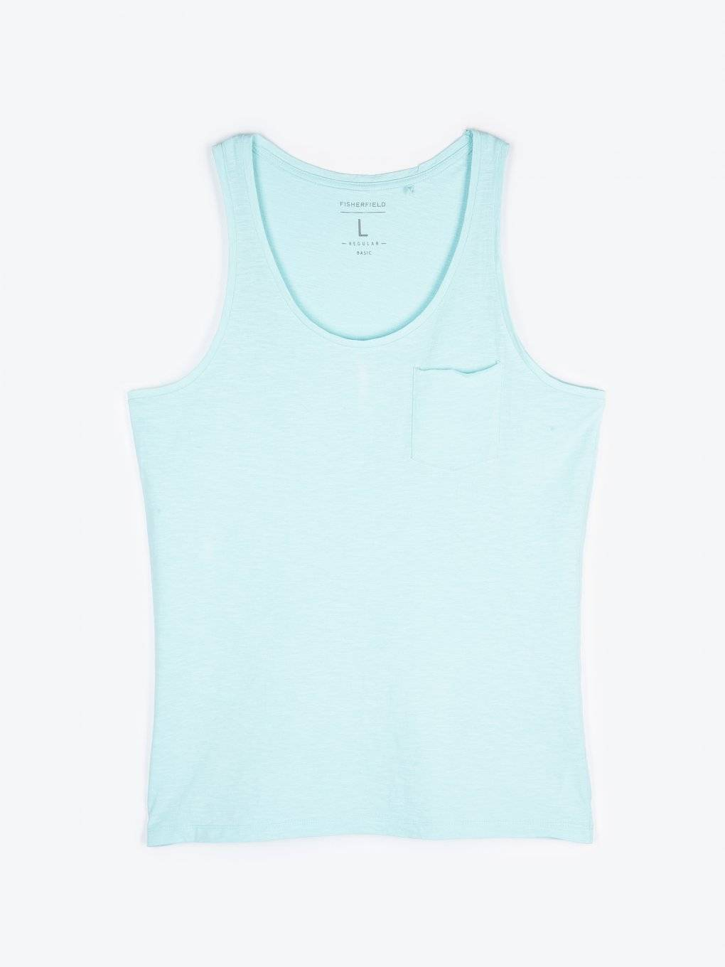 Tank with chest pocket