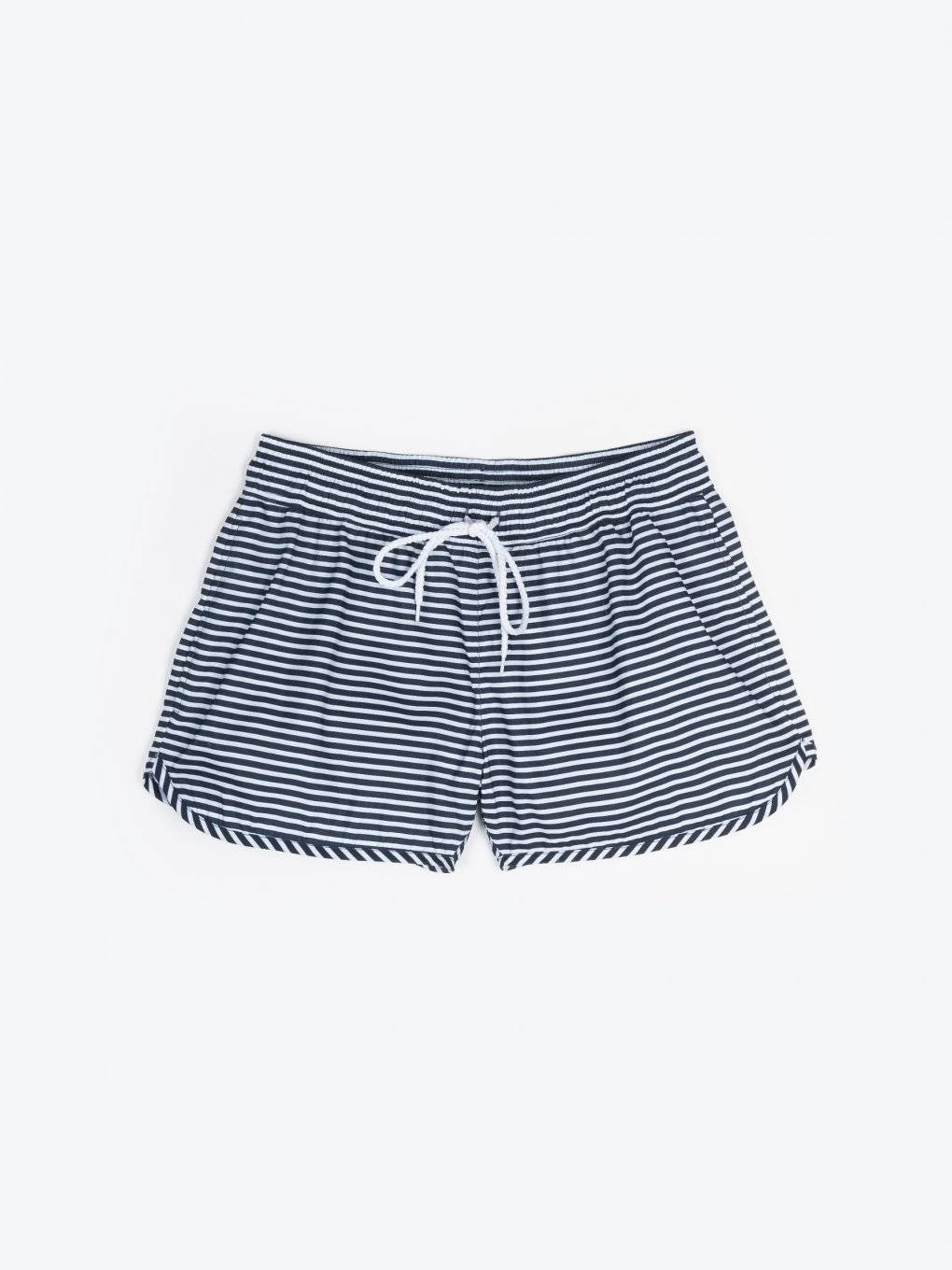 Striped shorts with pockets
