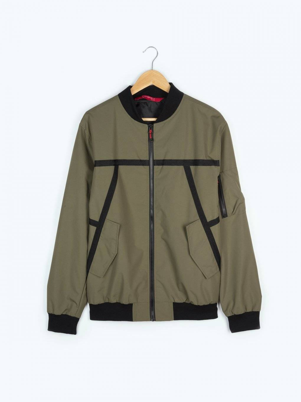 Bomber jacket with contrast tape