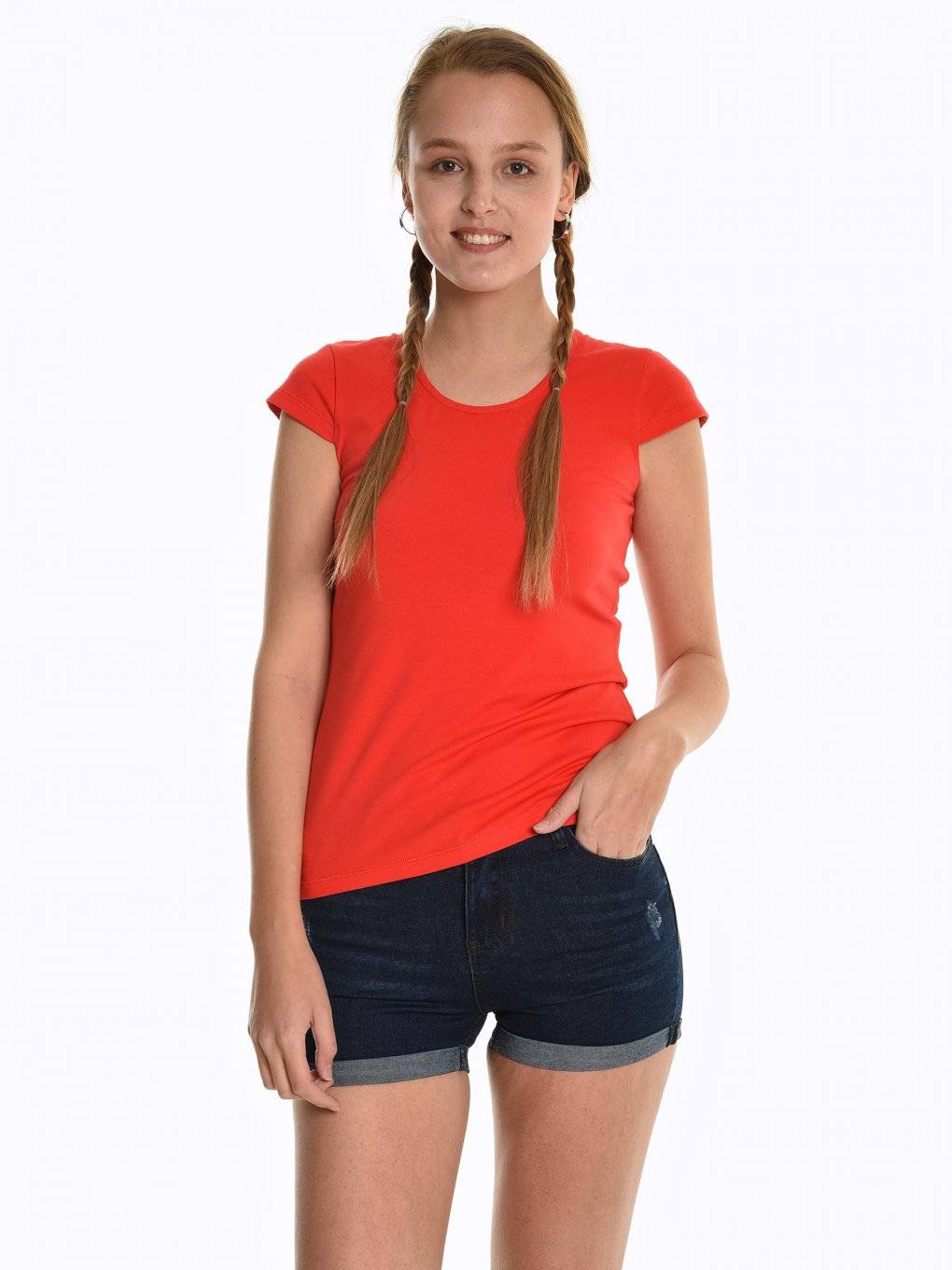 Basic stretchy short sleeve t-shirt