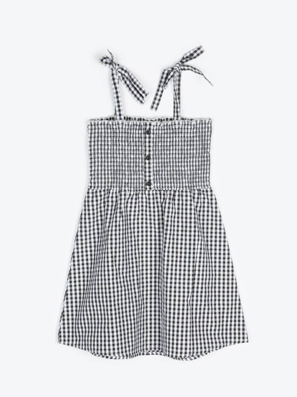 Sleeveless gingham dress