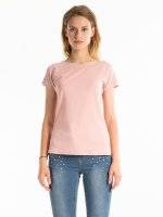 T-SHIRT WITH STONE EMBELLISHMENT